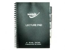Supreme Classic A4 250pg 5 Subject Lecture Pad